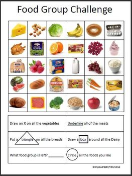 Food Group Worksheet by Empowered By THEM | Teachers Pay Teachers