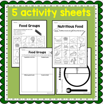 Food Groups Health Nutrition Lesson Plans And Activity Sheets