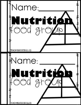 Nutrition Journal Food Groups