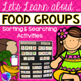 Food Groups Sorting and Searching Activities