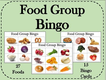 Food Groups Bingo