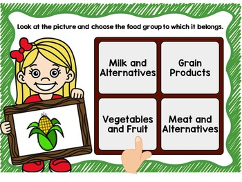 Food Groups (Canada Food Guide) Digital Task Cards BOOM CARDS