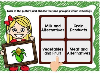 Food Groups (Canada Food Guide) Digital Task Cards BOOM CARDS