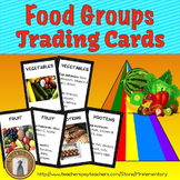 Food Groups Trading Card Activities