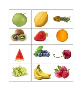 Food Groups Cards