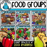 Food Groups Clip Art Bundle - Chirp Graphics
