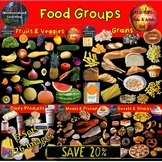 Food Groups Clip Art Bundle Photo & Artistic Digital Stickers 226 Images