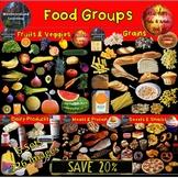 Food Groups Clip Art Bundle Photo & Artistic Digital Stick