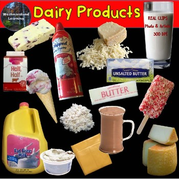 Food Groups Clip Art Dairy Products Photo & Artistic Digital Stickers