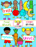 Food Groups Clipart {Kids Clipart}