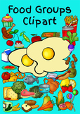 """Food Clipart - All Food Groups with a little """"Junk Food"""" a"""