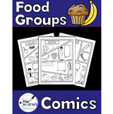 Food Groups Comics - Non-Fiction Writing Activity