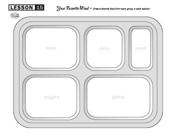 Food Groups Drawing Worksheet