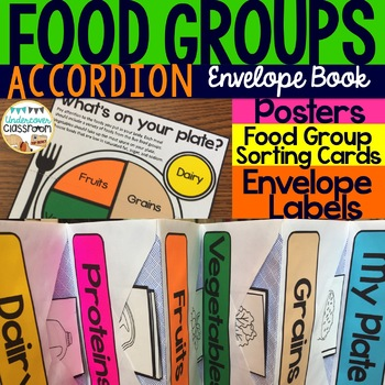 Food Groups Envelope Accordion Book: My Plate