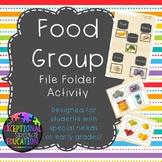 Food Groups File Folder Matching Activity
