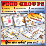 Food Groups & Food Tests-Fully Resourced lesson Plus 7 Gam