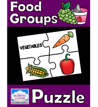 Food Groups Matching Puzzle Game