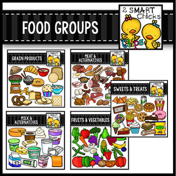 Food Groups Mega Bundle Clip Art