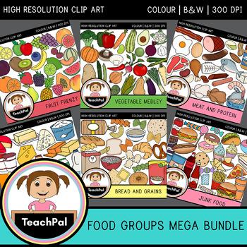 Food Groups Mega Bundle - Food Groups Clip Art
