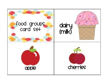 Food Groups Mini Unit for Young Learners (English Version)