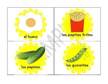 Food Groups Mini Unit for Young Learners (Spanish Version)