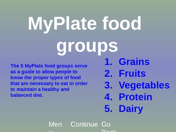Food Groups - MyPlate - Powerpoint
