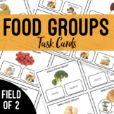 Food Groups Task Cards Field of 2