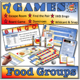 Food Groups, Nutrition & Food Tests - 7 Game Compendium fo
