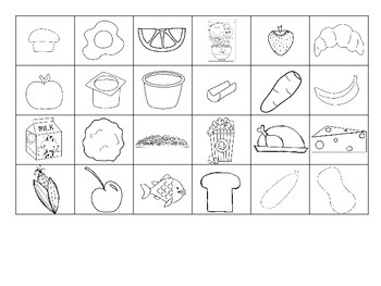 Food Groups Picture Sort