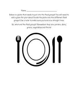 Food Groups/Plate- Design your own