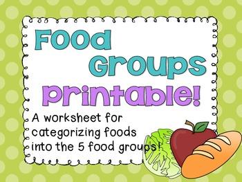 Food Groups Printable!