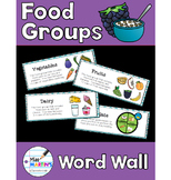 Food Groups Science Vocabulary Word Wall