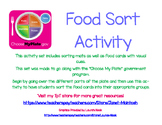Food Groups Sorting Activity