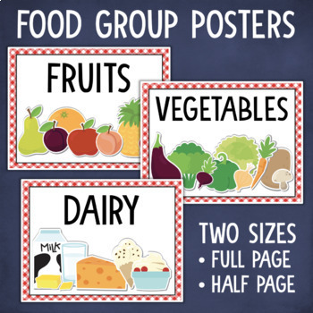 Food Groups Sort and Classify Activity + Posters
