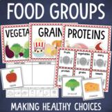 Food Groups Sorting Activity, Posters, Healthy Eating Worksheet