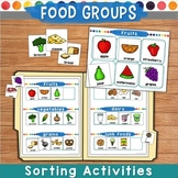 Food Groups Sorting Games