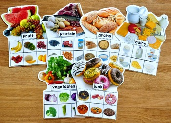 Food Groups Sorting Mats (w/Real Photos)