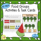 Food Groups Activities and Task Cards