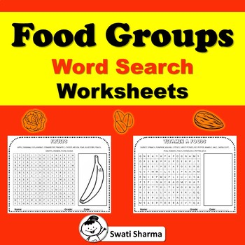 Food Groups Word Search