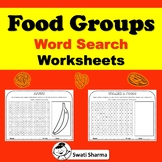 Food Groups Word Search Worksheets, Distance Learning