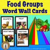 Food Groups Vocabulary Word Wall