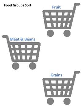 Food Groups Workbox or File Folder