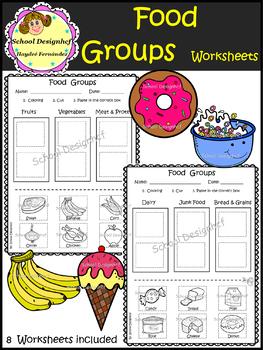 Food Groups - Worksheets (School Designhcf)