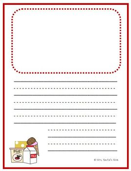 Writing Paper Templates - Food Groups Theme
