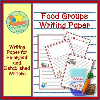 Food Groups Writing Paper