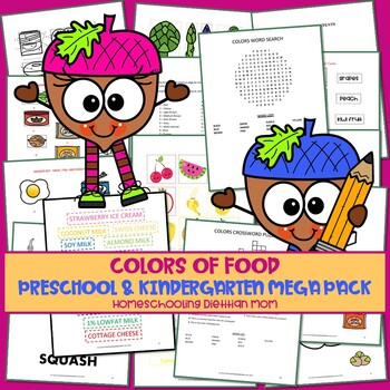Food Groups and Food Pictures - Preschool, K-1 Mega Pack