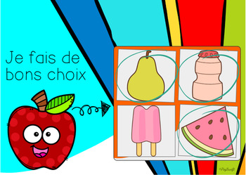 Food Groups and Healthy Eating Digital Task Cards • FRENCH