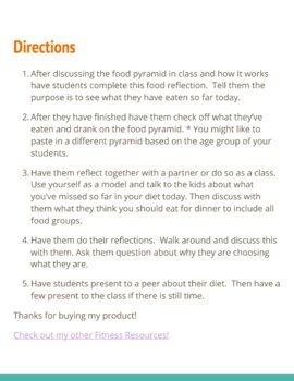 Food Groups and Healthy Eating Worksheet