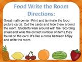 Food I-Spy Write the Room Math Center