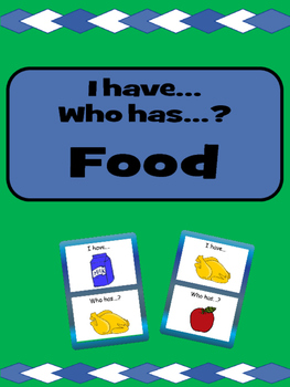 Food- I have/Who has…? Card Game- ESL Food Vocabulary
